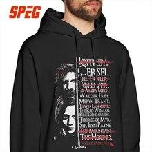 Game Of Thrones Hoodie Arya Stark The Hound Valar Morghulis Men Funny Printed Hooded Sweatshirt Vintage 100% Cotton Hoodie Shirt цена и фото