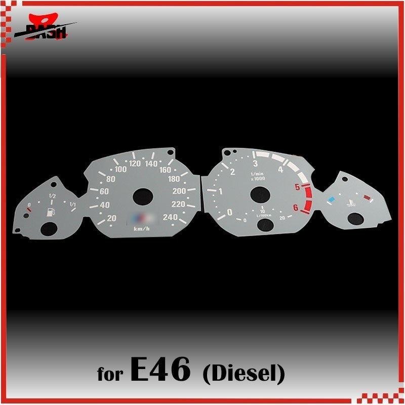 DASH 6000 rpm EL Glow Gauge for 3 series E46 Diesel Reverse Glow Gray face White