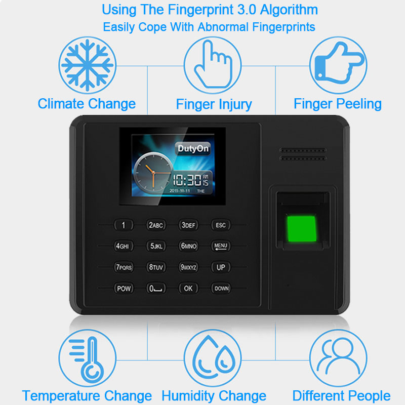 OULET Biometric Fingerprint TCPIP Time Attendance USB System Time Clock Recorder Attendance Fingerprint Employees Device Reader k14 zk biometric fingerprint time attendance system with tcp ip rfid card fingerprint time recorder time clock free shipping