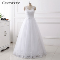 CEEWHY V neck Elegant Bridal Dresses Lace Up Wedding Gowns A Line Wedding Dresses Custom Robe De Mariage Vestido de Noiva Curto