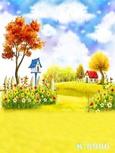 200*300cm Painted Photos Backgrounds For Children Baby Digital Backdrops fundo fotografico Fabric Photo Studios