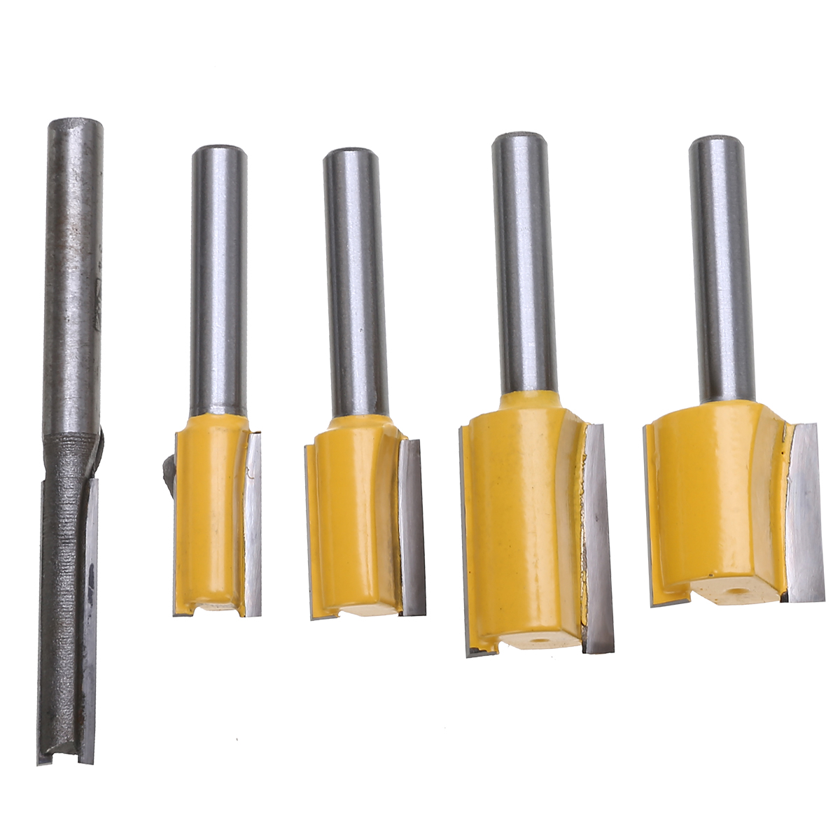 5pcs Set Hard Alloy Straight Trimmer Router Bits 1 4 quot Shank Trimming Milling Cutter for Wood Woodworking Machine Tools in Milling Cutter from Tools