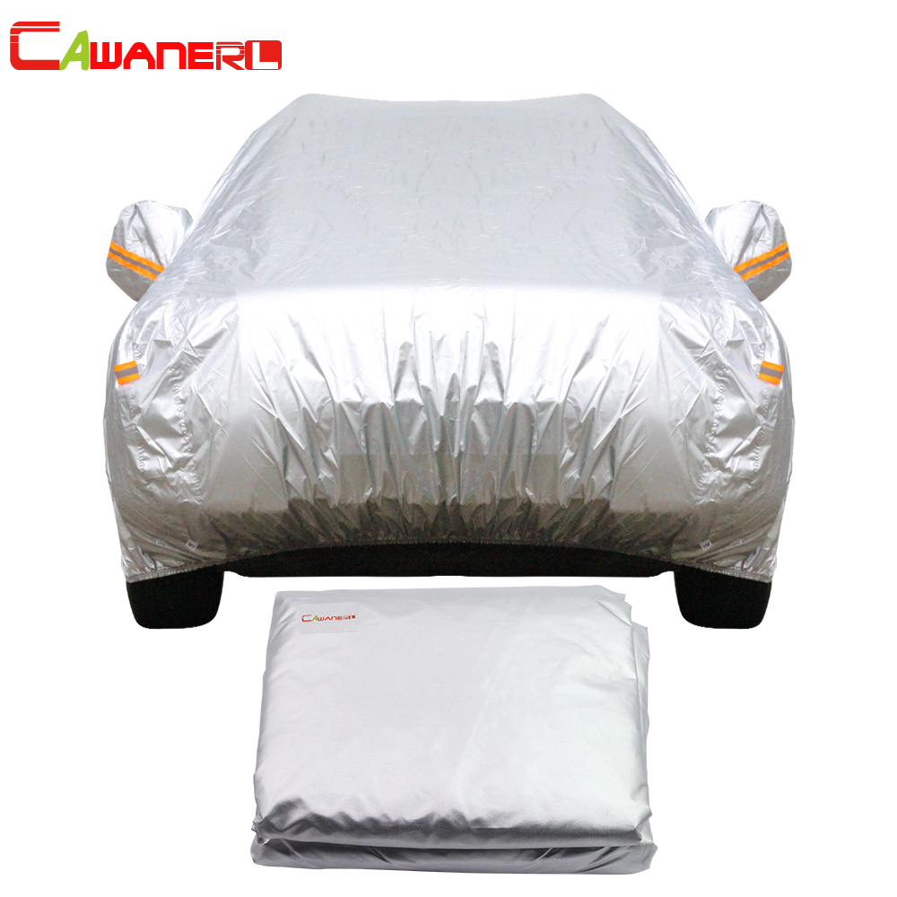 Cawanerl Car Cover Auto Sedan Hatchback Sun Rain Snow Protection Outdoor Cover Sunshade Anti UV Scratch
