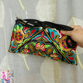 National Embroidered bags gorgeous embroidery one shoulder messenger bag cross-body women's clutch handbag Free Shipping !