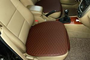 Image 2 - 3 pcs 자동차 좌석 쿠션 자동차 패션 자동차 좌석 커버 자동차 스타일링 자동차 액세서리 pu 가죽 제조
