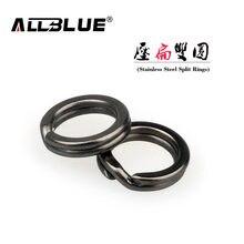Allblue 60 pçs/lote nova chegada clássico preto níquel cor aço inoxidável anel de divisão conector pesca ganchos peixes iscas de pesca