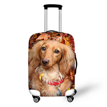 Case cover Travel accessories 3D dog Suitcase cover zipper suit 18-32 Inch  Thick elastic protective case for a  suitcase