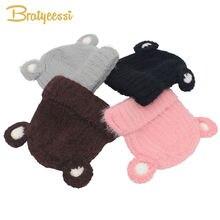 Милая зимняя детская шапка вязаная для девочек и мальчиков шапки