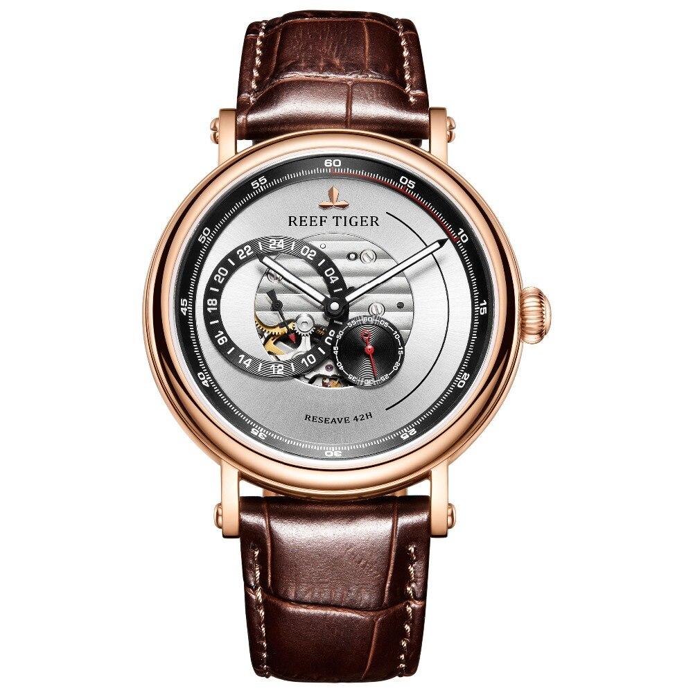 Reef Tiger/RT 2019 Fashion Design Watch Men Luxury Rose Gold Miyota Automatic Watch Shockproof Waterproof Watch Relogio RGA1617
