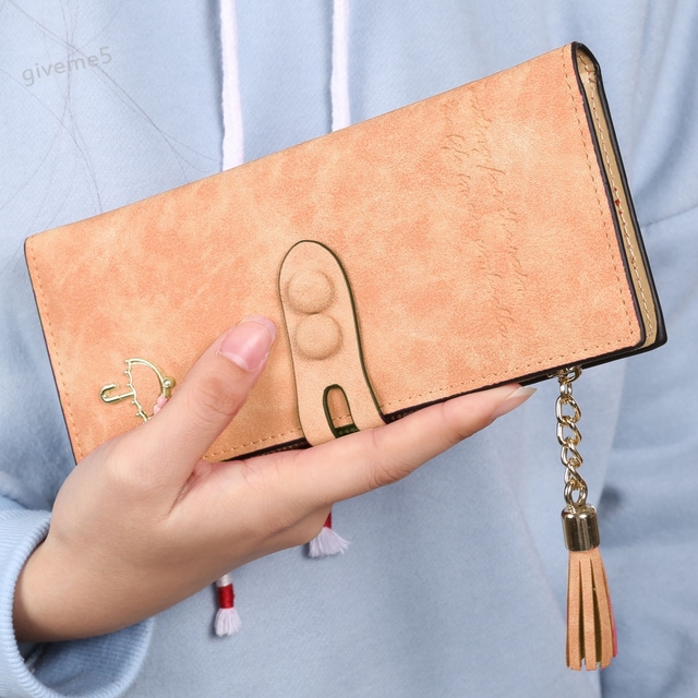 fashion women lady application synthetic leather purses card holder