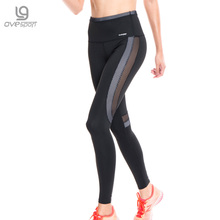 Ovesport Mesh Women Yoga Pants Fitness Sports Exercise Tights Fitness Leggings HIgh Waist Gym Leggings Compression