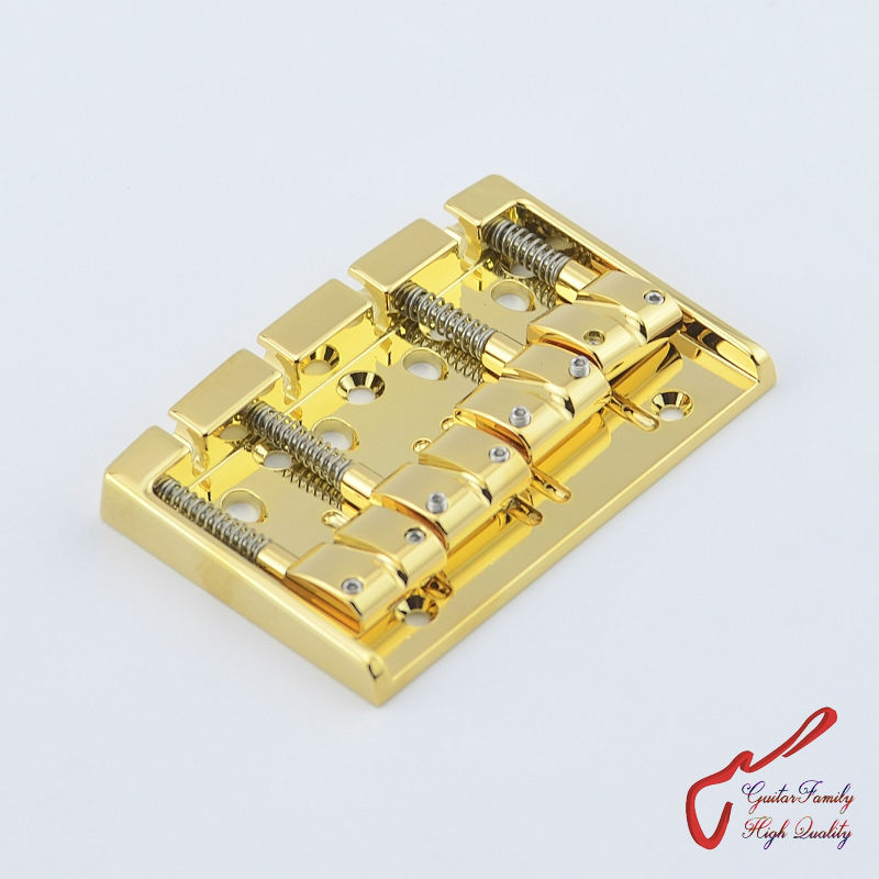 Genuine Original  GOTOH 404BO-4  4 Strings Electric Bass Bridge  ( Gold )   Brass Saddle MADE IN JAPAN original thomastik vision solo vis100 4 4 violin strings full set med alum d made in austria free shipping