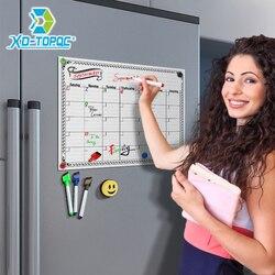 A3 mensal planejador diário quadro branco geladeira ímã 29.7*42cm magnético flexível bulletin desenho geladeira placa de mensagem branca