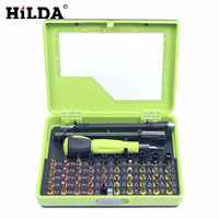 HILDA Hand Tool Sets Screwdriver Tools 53 In1 Multi Bit Precision Torx Screwdriver Tweezer Cell Phone