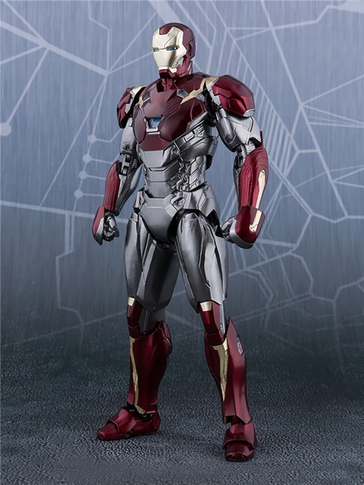Movie Avengers Infinity War Iron Man Figure SpiderMan Homecoming Super Hero Iron Man Mark47 PVC Action Figure Model Doll Gift