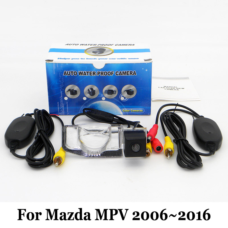 Car Parking Camera For Mazda MPV 2006~2016 / RCA AUX Wire Or Wireless Camera / HD Wide Lens Ang Night Vision Rearview Camera