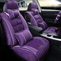 3d tampa de assento do carro de pelúcia inverno almofada para mitsubishi asx lancer galant esporte pajero v73 v93 v95 v97, alta-fibra de couro, carcover