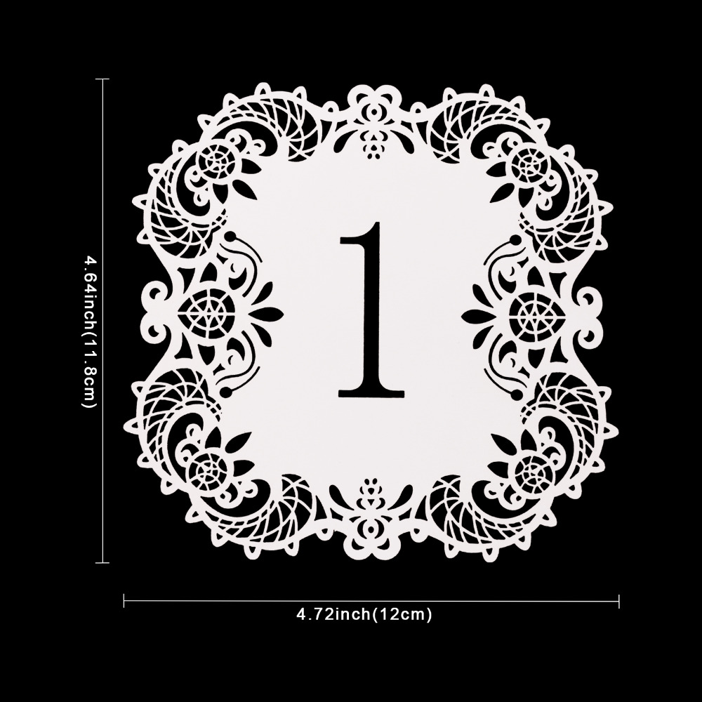 10Pcs Set Paper Cards Wedding Table Number 1 10 Hollow Laser Cut Card Numbers Vintage DIY Party Decoration Event Supplies In Decorations From Home