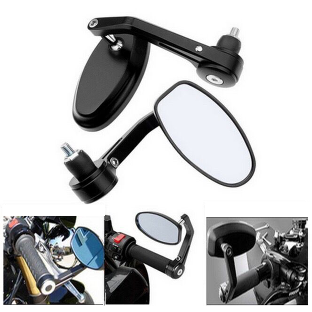 "Image 2 - 7/8""22mm Universal Motorcycle Rearview Mirrors Handle Bar End For motocross ATV Off road dirt pit bike motorbike rearview mirror-in Side Mirrors & Accessories from Automobiles & Motorcycles"