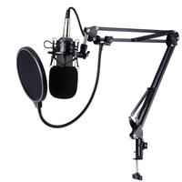 BM 800 Profession Studio Broadcasting Recording Condenser Microphone Desktop Scissor Mic Stand Kit Sets XLR Cable Mounting Clamp
