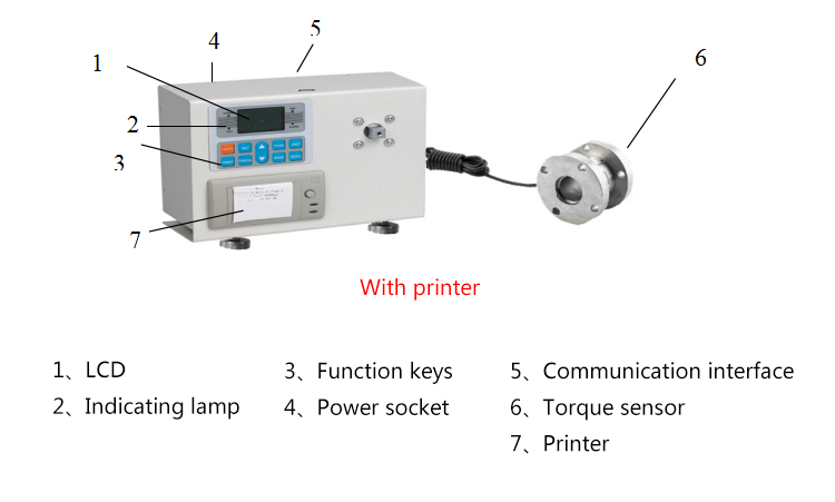 Цифровой измеритель вращающего момента без принтера(ANL-2000) 2000н. м