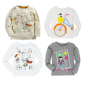 Autumn Winter 100% Cotton Boys Girls T-shirt Kids Tees Baby Boy shirts cardigan blouse jacket Children sweater Long Sleeve