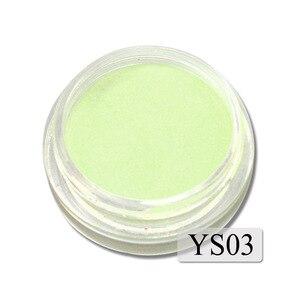 Image 3 - 1g Ultrafeinen Fluoreszierende Nagel Pulver Neon Phosphor Bunte Nail art Glitter Pigment 3D Glow Leucht Staub Dekorationen YS01 12 1