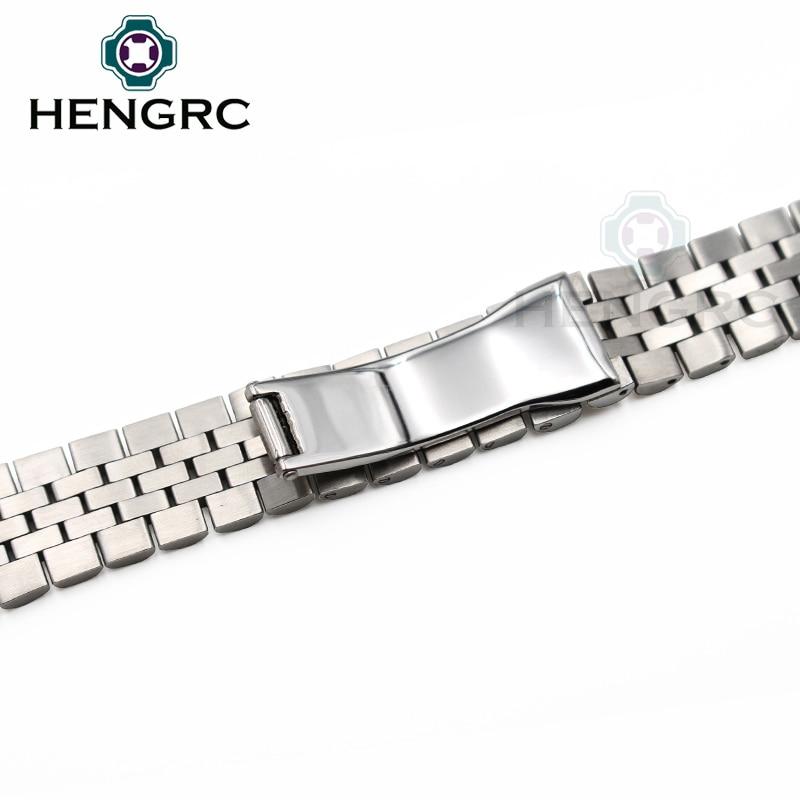 Paslanmaz Çelik Watch Band Kayışı 20mm Erkekler Metal Saat - Saat Aksesuarları - Fotoğraf 5