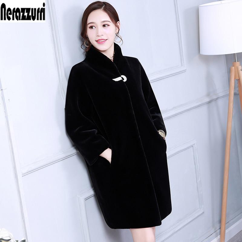 Пальто из искусственного меха Для женщин Цветной синий черный серый пушистый кролик Меховая куртка Искусственный мех пальто длинные синте...