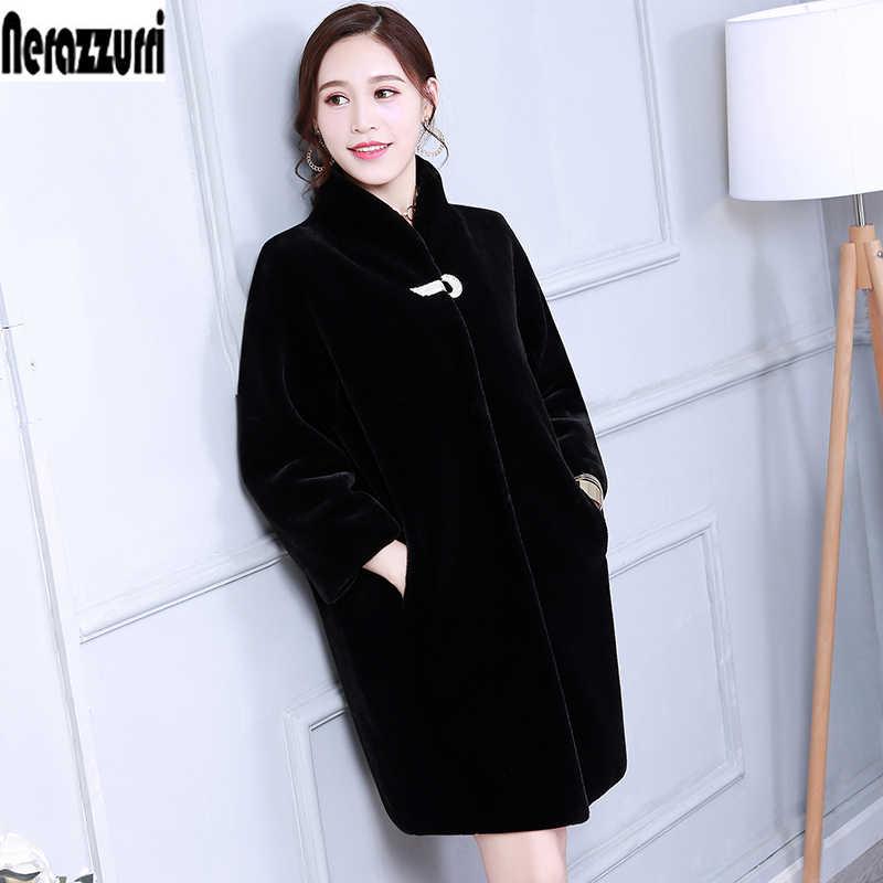 bba5e1cbe36 Пальто из искусственного меха Для женщин Цветной синий черный серый  пушистый кролик Меховая куртка пальто из