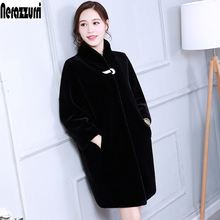 Пальто из искусственного меха Для женщин Цветной синий черный серый пушистый кролик Меховая куртка пальто из искусственного меха длинные синтетического меха Верхняя одежда плюс Размеры 5XL 6XL