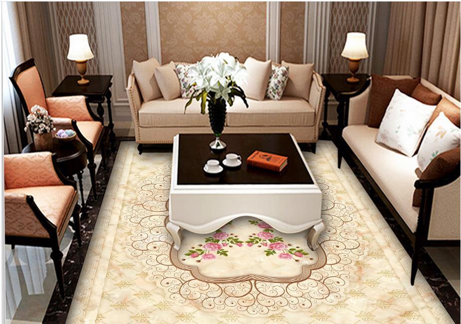 ФОТО custom 3d flooring Stone pattern 3d floor tiles self adhesive vinyl wallpaper pvc roll flooring waterproof wallpaper for kitchen