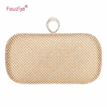 hot deal buy fawziya big diamond pu leather weave evening bags and clutches for women