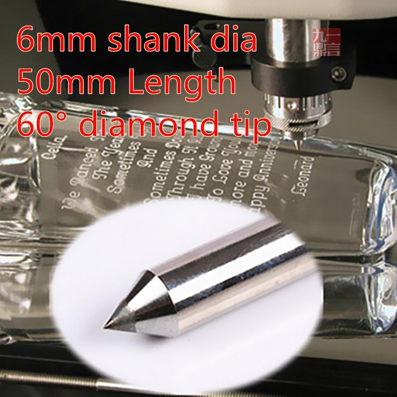 3db / tétel YIYAN 6mm átmérőjű 60 fokos gyémánt gravírozó szerszámok acél króm titán gravírozással, kicsit ingyenes szállítás