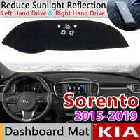 Für KIA Sorento UM 2015 2016 2017 2018 2019 Anti-Slip Matte Dashboard Abdeckung Pad Sonnenschirm Dashmat Teppich Auto zubehör Prime R