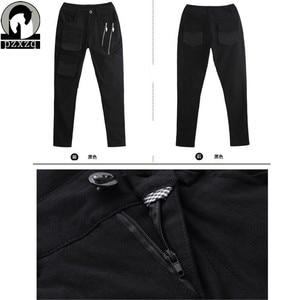 Image 5 - Fashionable Womens European Style Harem Pants Black Pencil Pants 100% High quality Elastic Waist Stretchable Material 2020
