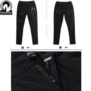 Image 5 - แฟชั่นผู้หญิงยุโรปสไตล์Haremกางเกงกางเกงดินสอสีดำ100% คุณภาพสูงยืดหยุ่นเอวยืดวัสดุ2020