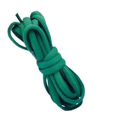 """100 см/3"""" овальные плоские шнурки Шнурки кроссовок 24 цветов для выбора - Цвет: No 19 green"""