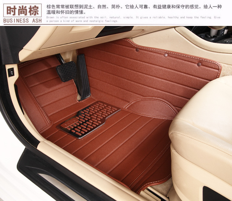 Non Slip Waterproof Wholly Surrounded Ottomans Special Leather Car Mats For VEZEL Easy Clean No Odor Green Carpets In Floor From Automobiles
