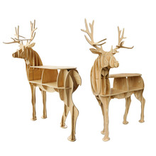 4 Colors Wood Craft Coffee Table Antique Chinese Coffee Tables Basse Deer Coffee Table Book Shelves Deer Desk Wood Furniture