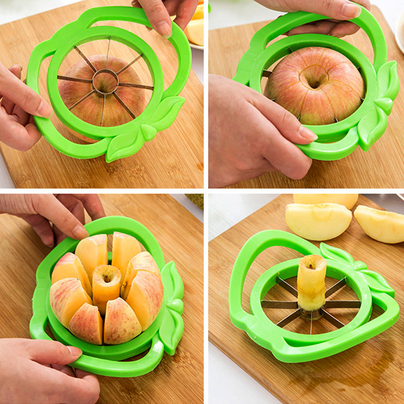 1PCS Stainless Steel Apple Corer Tools Apple Cutter Fruit Slicer Multi-function