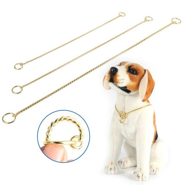 Collare di cane Oro/Nero Catena di Metallo Del Serpente Cablaggio Del Cane Della