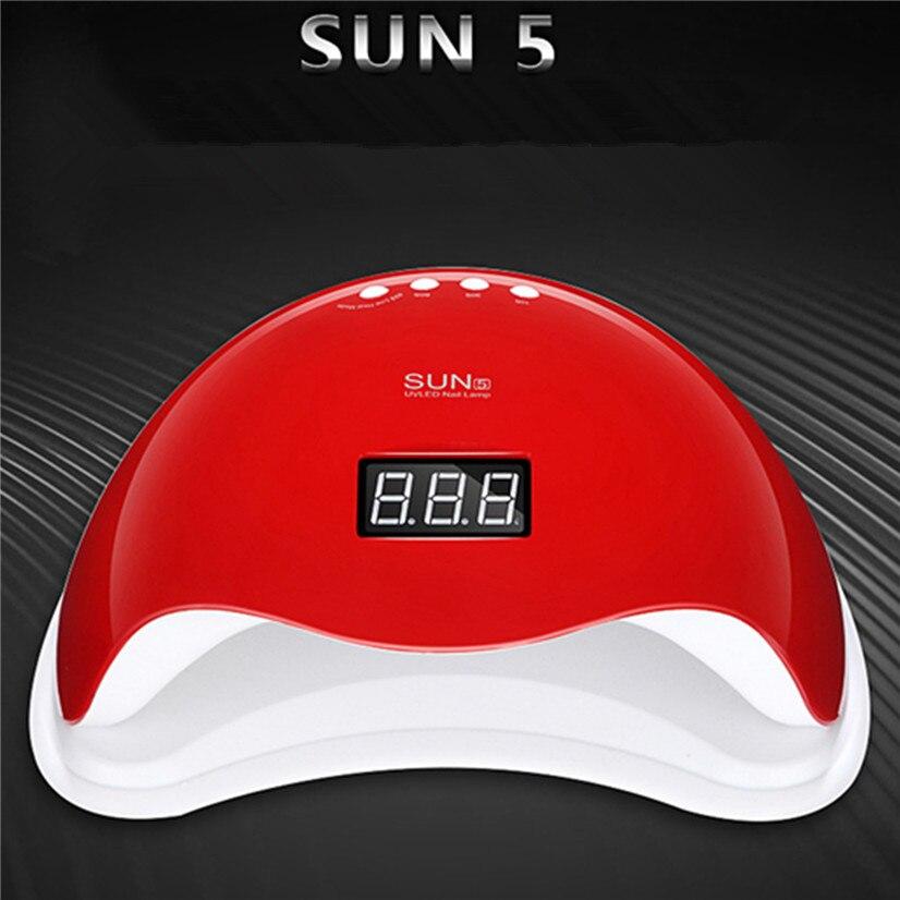 SUN5 48W Dual UV Lamp LED Nail Lamp 110V-240V LED Gel Polish Nail Dryer Curing Light 10s/30s/60s Timer LCD display Manicure tool