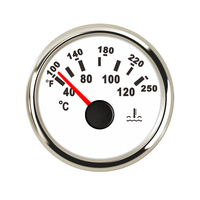 52 mm Yacht Water Temp Temperature Gauge Water Temp Meter Indicator 40 120 For Motor Boat Car Auto Engine Outboard