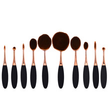 10pcs Pro Toothbrush Makeup Brush Oval Brush Set Multipurpose Makeup Brushes Set Super Nice Toothbrush Makeup Brush profissional
