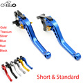 Regular/ Short Billet Aluminum CNC Clutch Brake Levers Adjustable Motorcycle Set for Yamaha YZF R6 1999 2000 2001 2002 2003 2004