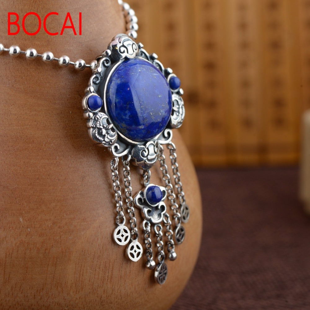 S925 sterling silver  antique female tassel  PendantS925 sterling silver  antique female tassel  Pendant