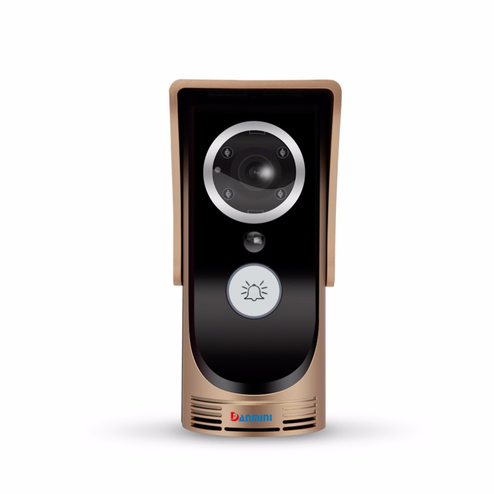 Wireless Danmini Wifi Video Audio Camera Door Bell Phone Wireless Doorbell Intercom For Android For IOS Golden 2017 Top Sale free customs taxes shipping electric car golf car forklift battery pack 48v 40ah 2000w lithium ion battery storage with 50a bms