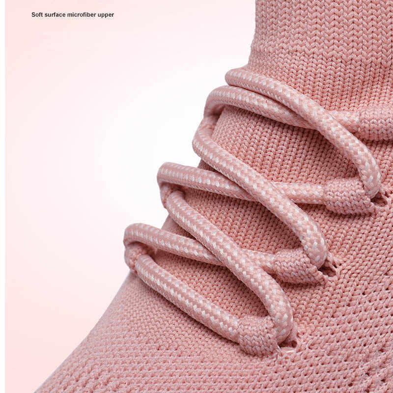 2019 printemps été femmes appartements plate-forme baskets chaussette chaussures respirant maille dames chaussures plates femme Tennis noir Bambas Mujer