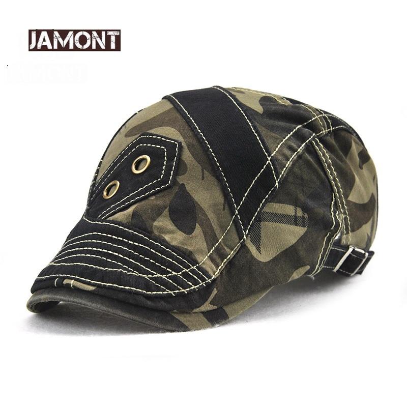 JAMONT Military Beret Caps Sun-Hat Cotton for Men Gorras Casquette Planas Homme Camouflage